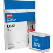 Staples Remanufactured Black Ink Cartridges, Brother LC51BK (SIB-RLC51B2), Twin Pack