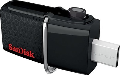 SanDisk Ultra Dual 32GB 130MB/s USB 3.0 Flash Drive (SDDD2-032G-A46)