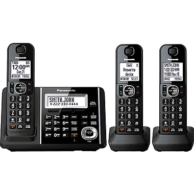 Panasonic KXTGF343B Digital Cordless Answering System with 3 Handsets