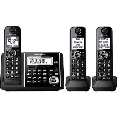 Panasonic - Répondeur numérique sans fil KXTGF343B avec 3 combinés