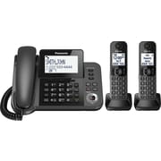 Panasonic Digital Corded/Cordless Phone with Answering System and 2 Handsets (KXTGF352M)
