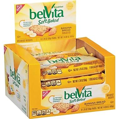 BelVita Soft Baked Breakfast Biscuit, Banana Bread Flavor, 8 bars/box