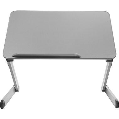 T-Zone 3LT Desk Extender Sit & Stand Desk, Gray (SD3LTG)