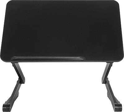 T-Zone 4LT Desk Extender Sit & Stand Desk, Black (SD4LTB)