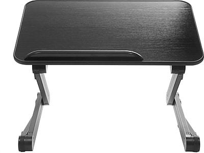 TZone 4MT Desk Extender Sit Stand Desk Black SD4MTB Staples