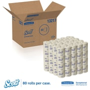 Scott® 100% Recycled Fiber Toilet Paper Rolls, 2-PLY Standard Size, 506 Sheets/Roll, 80 Rolls/Case (13217)