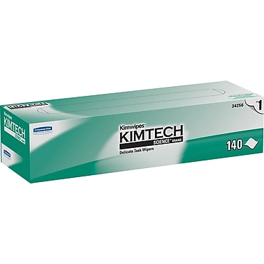 Kimwipes* Delicate Task Kimtech Science* Wipers, White, 140 Wipes/Box (34256)