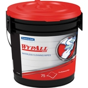"WypAll Waterless Industrial Cleaning Wipes, 9.5"" Width X 12"" Length (Case of 6, 75 Wipes per Pop-Up Container)"