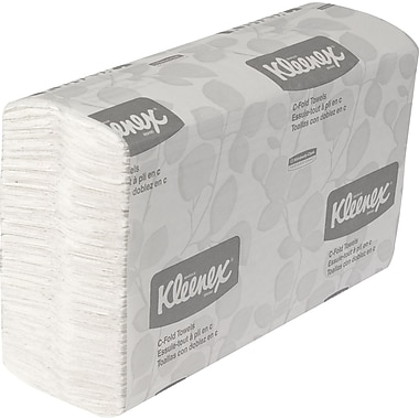 Kleenex C-Fold Paper Towels with Premium Absorbency Pockets 150 C-Fold Towels/Packs 16 Packs/Case (01500)