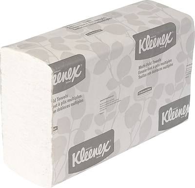 Kleenex® Multi-Fold Paper Towels, 1-Ply, White, 150 Towels/Pack, 16 Packs/Carton (01890