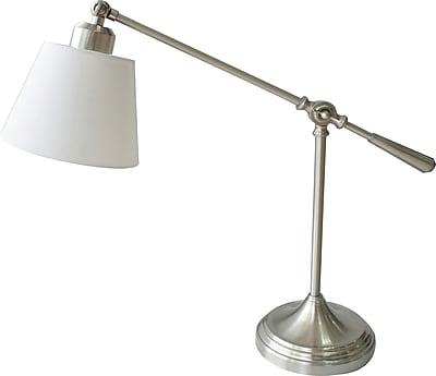 Fabric Shade Balance Arm Desk Lamp