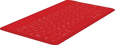 Logitech Keys-to-Go Ultra-portable Keyboard For Tablet/iPad, Red (920-006722)