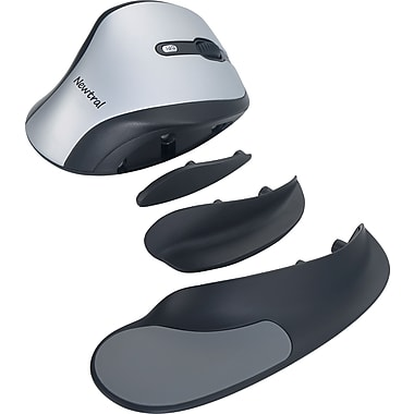 Goldtouch KOV-N200SWM Wireless Newtral 2 Mouse, Silver/Black