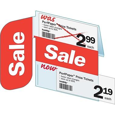 KostklipMD – Porte-étiquette « SALE » avec affiche angle droit ShelfTalker™ coll. Signature, 1,25 x 2,5 po, 25/pqt (SSIG-106679)