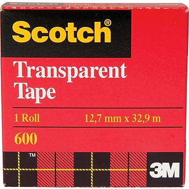 Scotch™ Transparent Tape, Boxed, 12.7mm x 32.9m