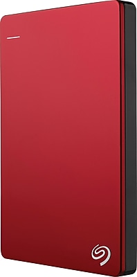 Seagate Backup Plus Slim 2TB Portable USB 3.0 External Hard Drive with Mobile Device Backup, Red (STDR2000103)