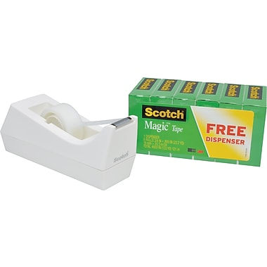 Scotch® Magic Tape with Desktop Dispenser, 3/4