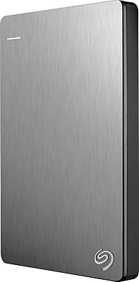Seagate STDR1000101 Backup Plus Slim 1TB Portable USB 3.0 External Hard Drive with Mobile Device Backup, Silver (STDR1000101)