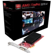 AMD FirePro 2270 PCI-E Dual DVI Low Profile, 1GB/512MB DDR3 Video/Graphics Card