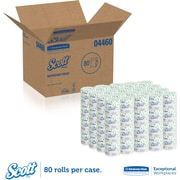 Scott 2-Ply Bath Tissue Standard Roll, White, 550 Sheets/Roll, 80 Rolls/Case (04460)