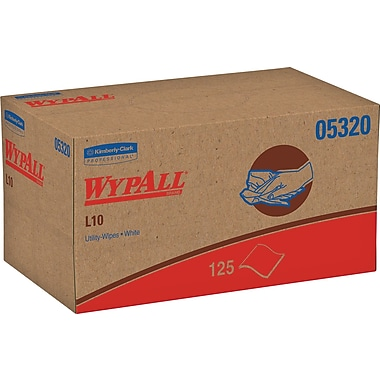 WypAll* L10 Disposable Wipers, 125 Wipers/Box (05320)
