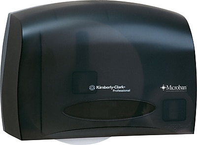 Kimberly Clark® IN-SIGHT® Coreless JRT Bath Tissue Dispenser, Smoke, 9 3/4