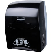 Sanitouch Hard Roll Paper Towel Dispenser, Touchless, Manual, in Smoke / Black (09996)