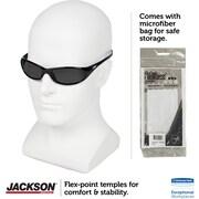 Jackson Safety V40 HellRaiser Safety Glasses, Black Frame