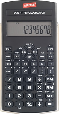 Staples Black Scientific Calculator