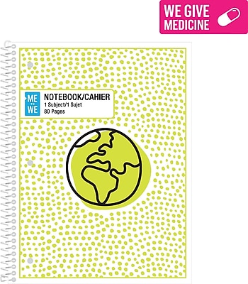 Me to We Notebook, Assorted Colors