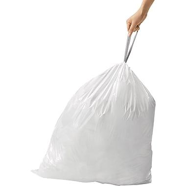 SimplehumanMD ® Sacs à poubelle sur mesure, code N, 12 à 13 gallons, 200 sacs/boîte