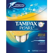 Tampax® Pearl Regular Uncented Tampons, 18/CT