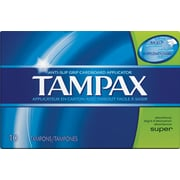 Tampax Cardboard Applicator Tampons, Super, 10/Bx