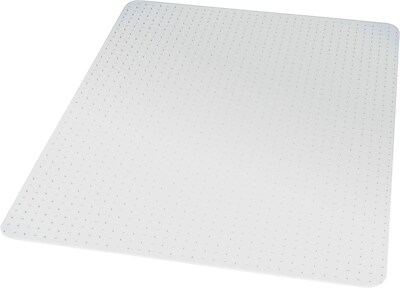 "Staples® Chairmat, For Medium Pile Carpets, No Lip, Rectangular, 36"" x 48"""