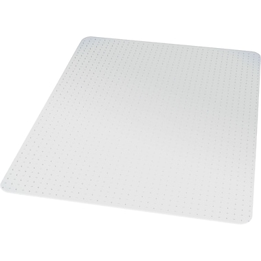 Staples® Chairmat, For Medium Pile Carpets, No Lip, Rectangular, 45