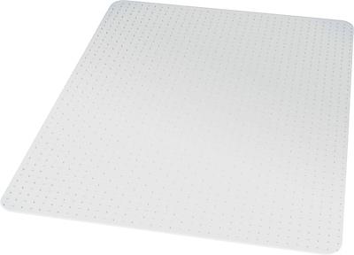 "Staples® Chairmat, For Medium Pile Carpets, No Lip, Rectangular, 45"" x 53"""