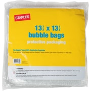 "Staples Bubble Bags, 13-1/2""x13-1/2"", 6/Pack (27180-US/CC)"