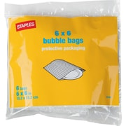 "Staples Bubble Bags, 6"" x 6"", 6/Pack (27181-US/CC)"