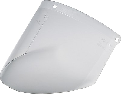 AO Tuffmaster® Clear Polycarbonate Face Shield Visor, 9 in (H) x 14 1/4 in (W) x 0.08 in (T), Shield Only