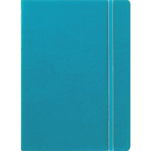 """Filofax® A5 bus Notebook w/ 112 Cream Colored Ruled Repositionable Pages, 8-1/4""""x5-13/16"""", Aqua"""
