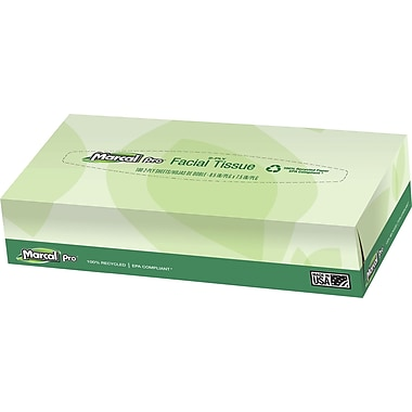 Marcal Pro 2-Ply 100% Recycled Facial Tissue 100 Sheets/Box 30 Boxes/Case (2930)