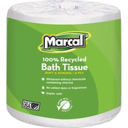 Marcal® 100% Recycled  Bath Tissue, White, 2-Ply, 504 Sheets/Roll, 80 Rolls/Case (4580)