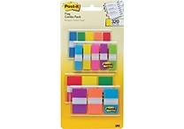 Post-it® 1/2' and 1' Flags, Bright Color Combo Pack, 320 Flags/in Four On-The-Go Dispensers (683-XL1)