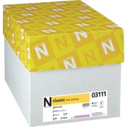 "Neenah Paper Classic® 8 1/2"" x 11"" 24 lbs. Laid Writing Imaging Paper, Whitestone, 5000/Case"