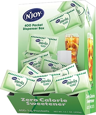 N'Joy All Natural Zero Calorie Sweetener, Green Stevia, 400/Box