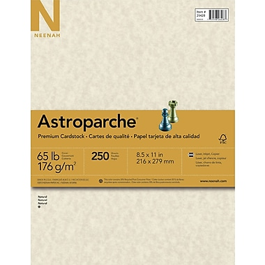 Astroparche Cardstock, 8.5 X 11, 65lb., Natural, 250 Sheets/Pack  Resume On Cardstock