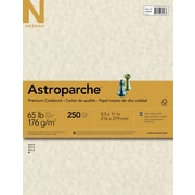 "Astroparche Cardstock, 8.5"" x 11"", 65lb., Natural, 250 Sheets/Pack (26428/27428)"