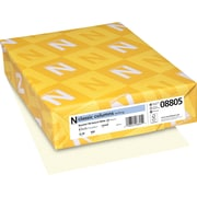 """CLASSIC COLUMNS® Writing Paper, 8 1/2"""" x 11"""", 24 lb., Linear Pattern, Natural White, 500/Ream"""