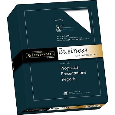SOUTHWORTH 100% Cotton Business Paper, 8 1/2