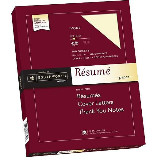 Southworth 100 cotton resume paper 8 12 x 11 24 lb wove httpsstaples 3ps7is friedricerecipe Choice Image